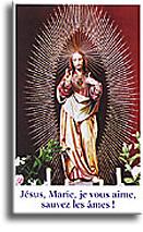 Jésus, Marie, je vous aime, sauvez les âmes!